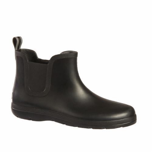 Totes® Men's Chelsea Short Rain Boots - Black Perspective: front