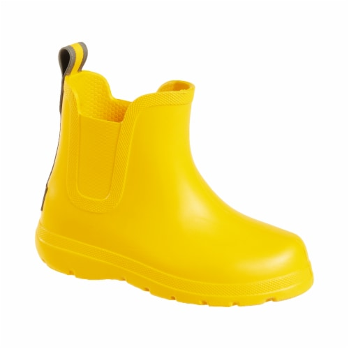 Totes® Toddler's Chelsea Short Rain Boots - School Bus Perspective: front