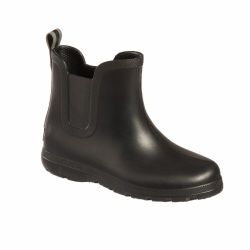 Totes® Kid's Chelsea Short Rain Boots - Black Perspective: front