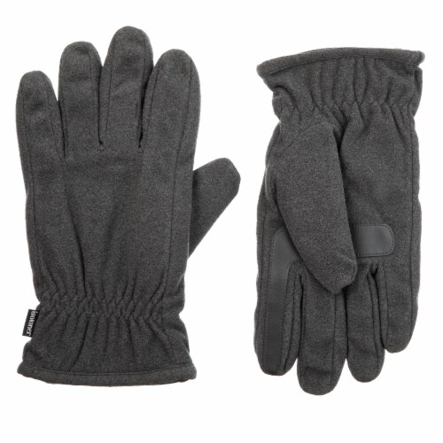 Isotoner­® Men's Extra Large Fleece Gloves - Charcoal Perspective: front