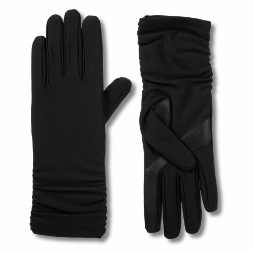Isotoner® Women's Small-Medium Long Spandex Gloves - Black Perspective: front