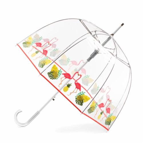 Totes Signature Auto Open Bubble Umbrella Perspective: front