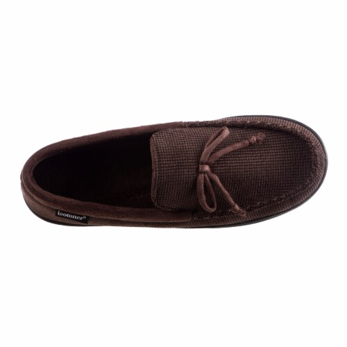 Isotoner­® Mini Box Cord Luke Moccasin Men's Slippers Perspective: front