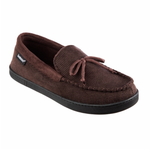 Isotoner® Mini Box Cord Luke Moccasin with Lacing - Brown Perspective: front