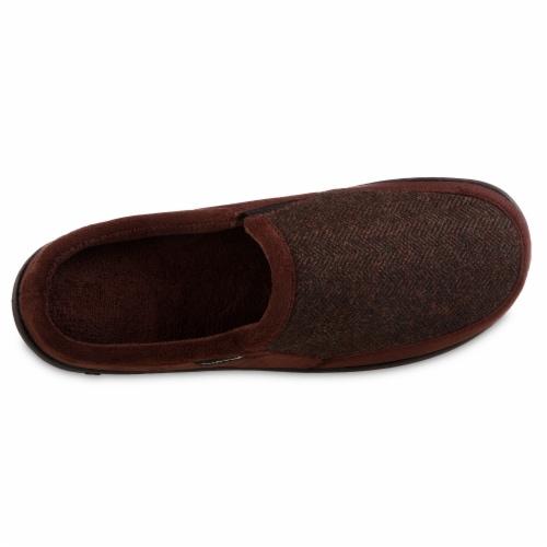 Isotoner® Herringbone Logan Hoodback Men's Slippers Perspective: front