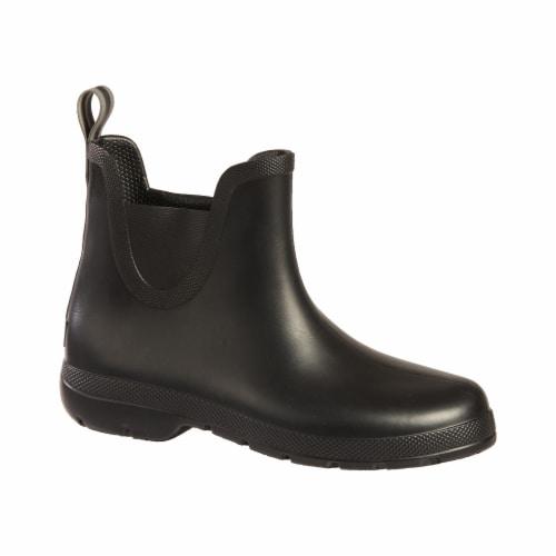 Totes® Women's Chelsea Short Rain Boots - Black Perspective: front