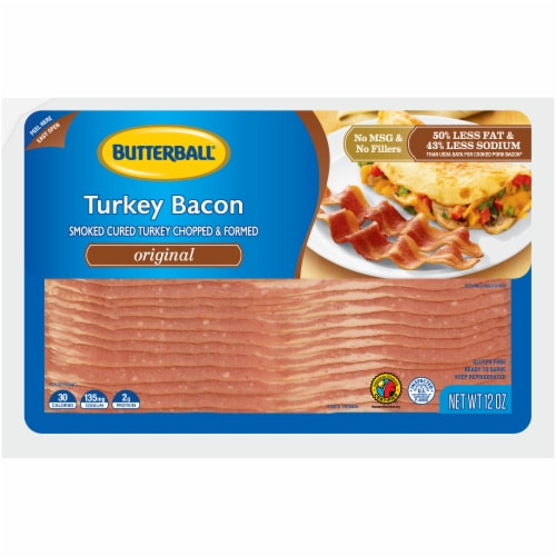 Butterball Original Turkey Bacon Perspective: front