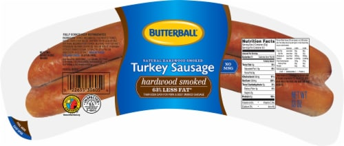Butterball Natural Hardwood Smoked Turkey Sausage Perspective: front