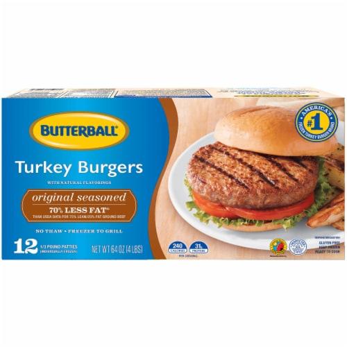 Butterball Original Seasoned Turkey Burgers Perspective: front
