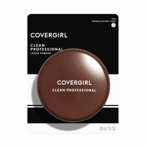 CoverGirl Clean Professional 105 Translucent Fair Loose Powder Perspective: front