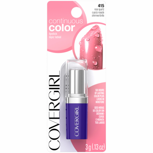 CoverGirl 415 Rose Quartz Continuous Color Lipstick Perspective: front