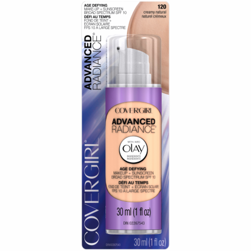 CoverGirl 120 Creamy Natural Advanced Radiance Age-Defying Makeup Perspective: front