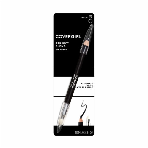 CoverGirl Perfect Blend 100 Basic Black Eye Pencil Perspective: front