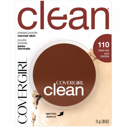 CoverGirl Clean 110 Classic Ivory Normal Skin Pressed Powder Perspective: front