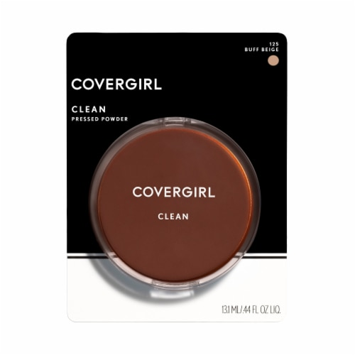 CoverGirl 125 Buff Beige Clean Pressed Powder Perspective: front