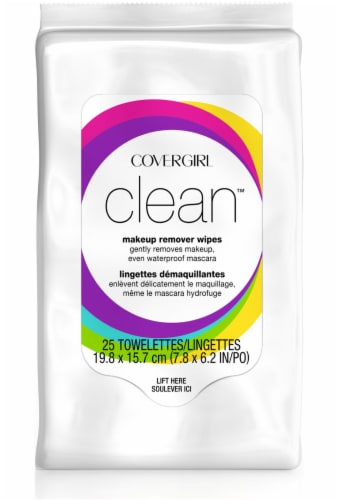CoverGirl Clean Makeup Remover Wipes Perspective: front