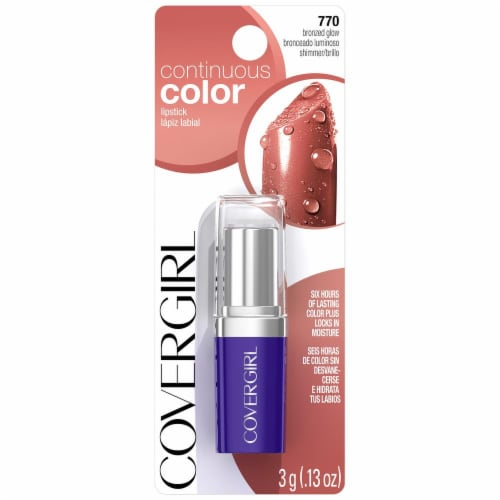 CoverGirl 770 Bronzed Glow Continuous Color Lipstick Perspective: front
