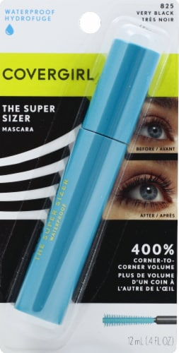 CoverGirl 825 Very Black Waterproof The Super Sizer Mascara Perspective: front