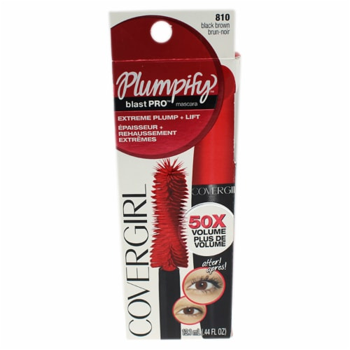 CoverGirl Plumpify Black Brown Mascara Perspective: front