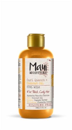 Maui Moisture Curl Quench + Coconut Oil Curl Milk Perspective: front