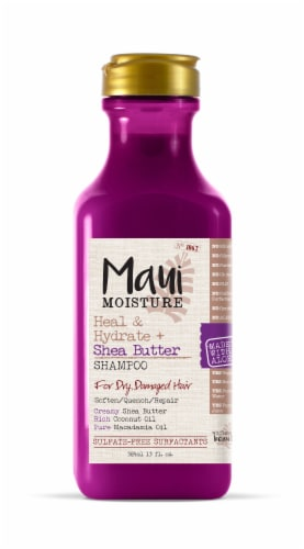 Maui Moisture Heal & Hydrate + Shea Butter Shampoo Perspective: front