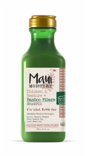 Maui Moisture Thicken & Restore + Bamboo Fibers Shampoo Perspective: front