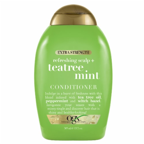 OGX Extra Strength Refreshing Scalp + Teatree Mint Conditioner Perspective: front