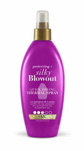 OGX Protecting + Silky Blowout Quick Drying Thermal Spray Perspective: front