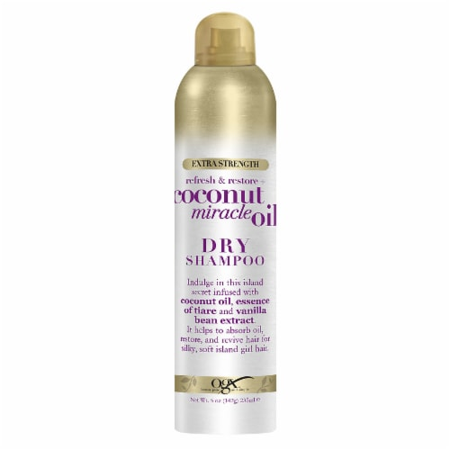 Ogx Extra Strength Coconut Miracle Oil Dry Shampoo Perspective: front