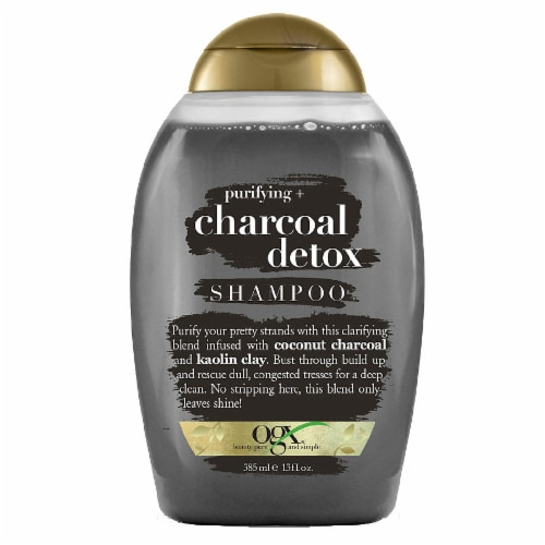 OGX Purifying + Charcoal Detox Shampoo Perspective: front