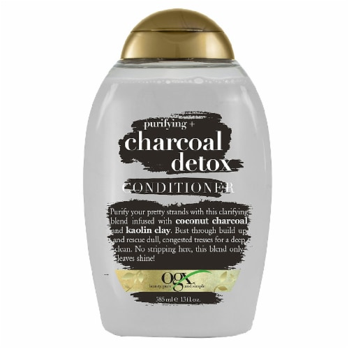 OGX Purifying Charcoal Detox Conditioner Perspective: front
