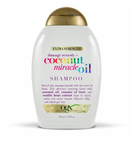 OGX Extra Strength Damage Remedy + Coconut Miracle Oil Shampoo Perspective: front