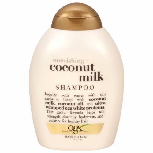 OGX Nourishing Coconut Milk Shampoo Perspective: front