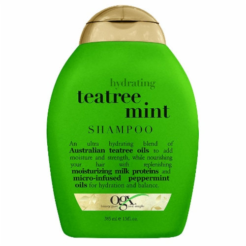 OGX Hydrating Teatree Mint Shampoo Perspective: front