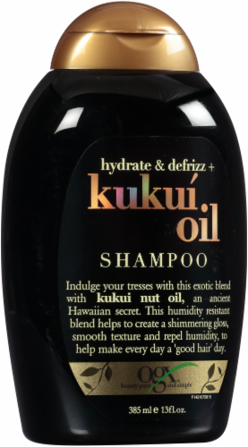 Ogx Hydrate + Defrizz Kukui Oil Shampoo Perspective: front
