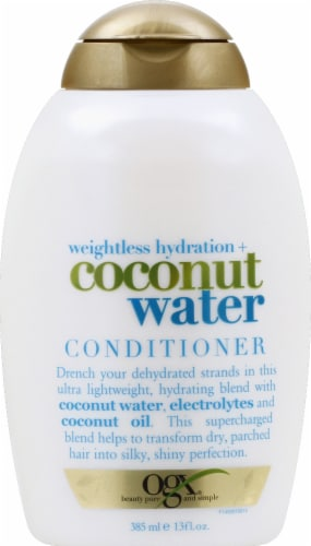 Ogx Weightless Hydration Coconut Water Conditioner Perspective: front