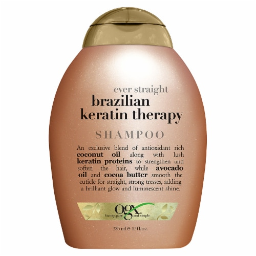 OGX Ever Straight Brazilian Keratin Therapy Shampoo Perspective: front