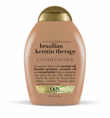 OGX Ever Straightening Brazilian Keratin Therapy Conditioner Perspective: front