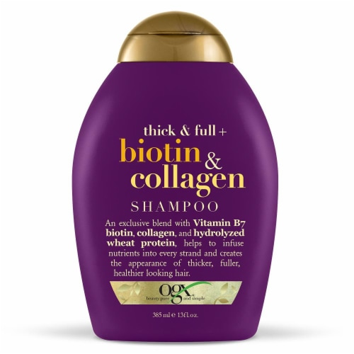 OGX Thick & Full Biotin & Collagen Shampoo Perspective: front