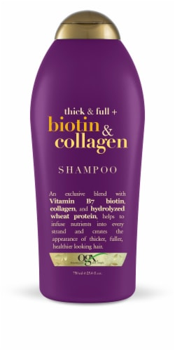OGX Thick & Full + Biotin & Collagen Shampoo Perspective: front