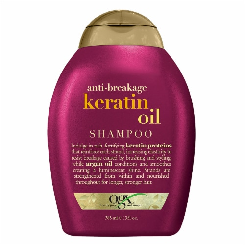 OGX Anti-Breakage Keratin Oil Shampoo Perspective: front