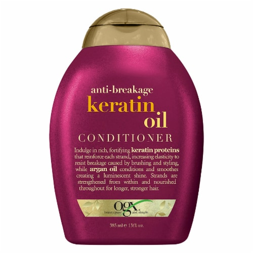 OGX Anti-Breakage Keratin Oil Conditioner Perspective: front