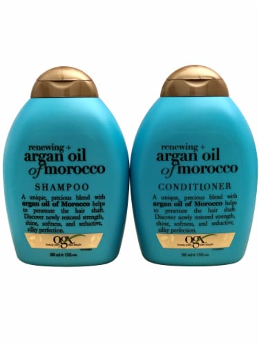 OGX Renewing + Argan Oil of Morocco Shampoo & Conditioner Set 13 Ounce Perspective: front