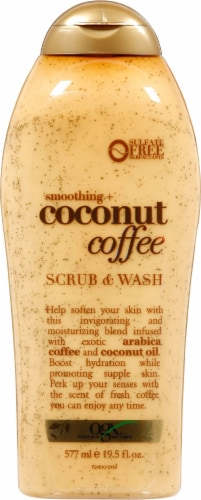 OGX Smoothing + Coconut Coffee Scrub & Wash Perspective: front