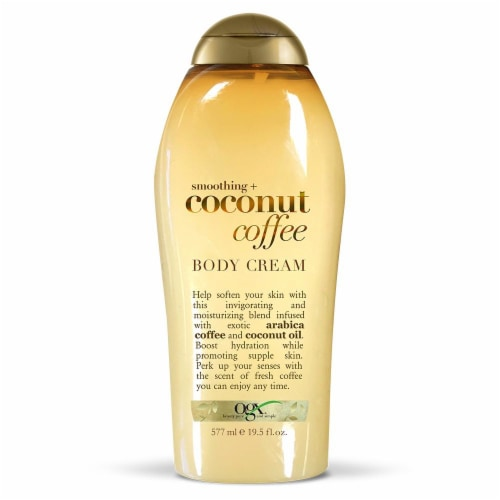 OGX Coconut Coffee Smoothing Body Cream Perspective: front