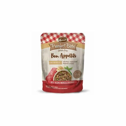 Merrick Pet Food MP38630 3 oz Bon Appetits Beef Morsel Pet Food Perspective: front