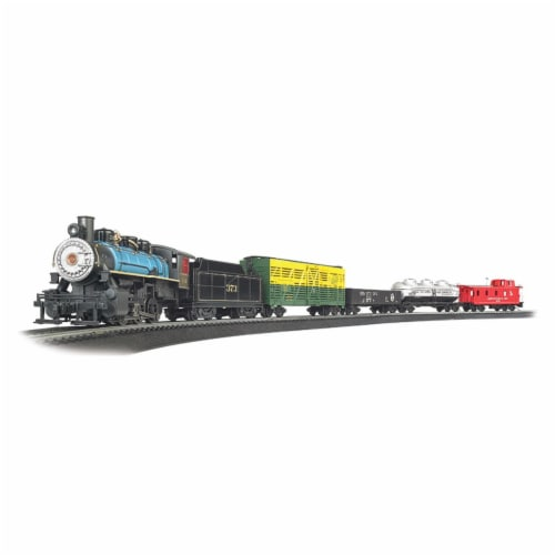 Bachmann BAC00750 HO Scale Chessie Special Train Set Perspective: front