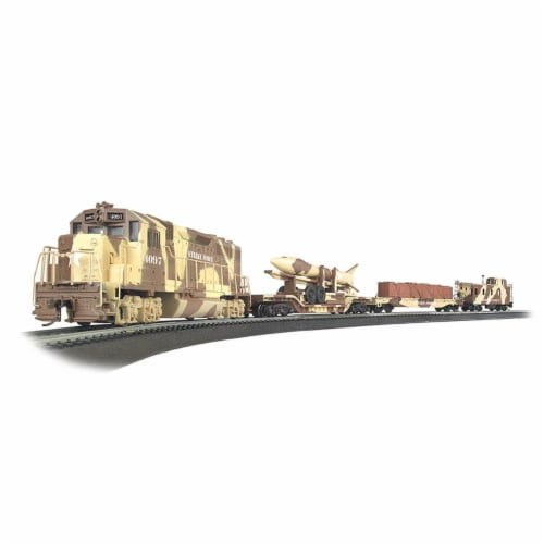 Bachmann BAC00752 HO Scale Strike Force Train Set Perspective: front