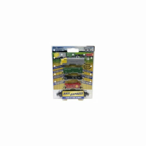 Bachmann BAC00958 HO Scale Battery Operated Rail Express Train Set Perspective: front