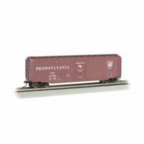 Bachmann BAC18039 50 ft. HO Plug Door Box Car PRR No.21008 Model Train Perspective: front